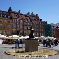 ワルシャワ旧市街建物歴史広場人魚
