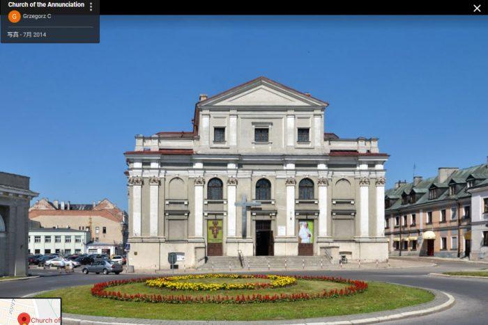 ザモシチ旧市街観光教会