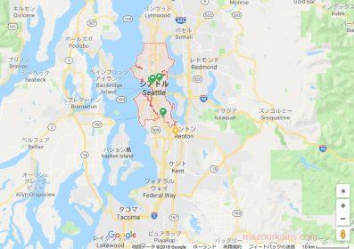 シアトルの地図