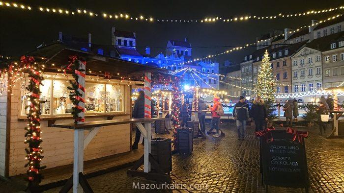 ワルシャワクリスマスイルミネーション2018旧市街
