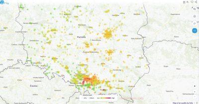ポーランドの大気汚染マップ