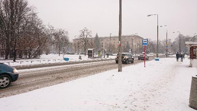 冬のワルシャワ雪景色