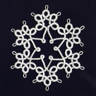 タッティングレース星雪の結晶モチーフ