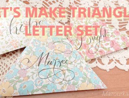 折り紙三角形の便箋封筒レターセット