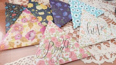 DIYcraftorigami riangle letterset