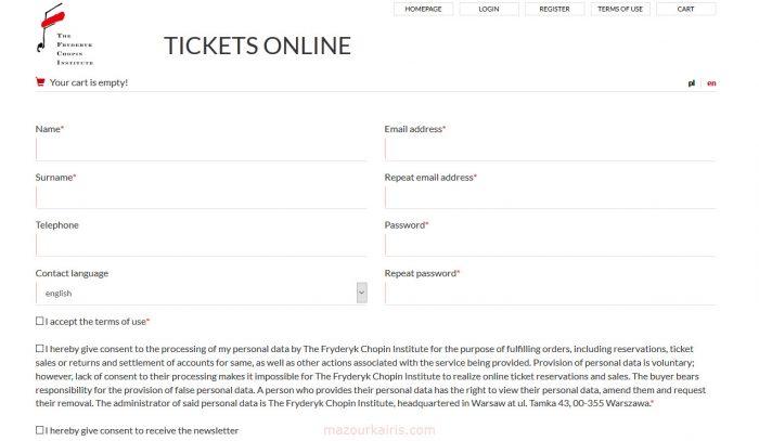 ショパンコンクール2020チケット購入方法