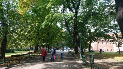 秋のクラクフ旧市街観光