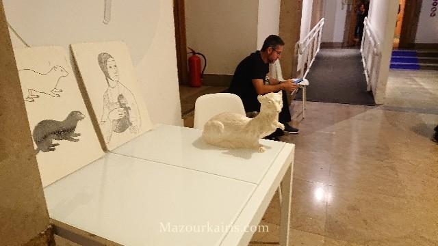 クラクフ国立美術館の白貂を抱く貴婦人