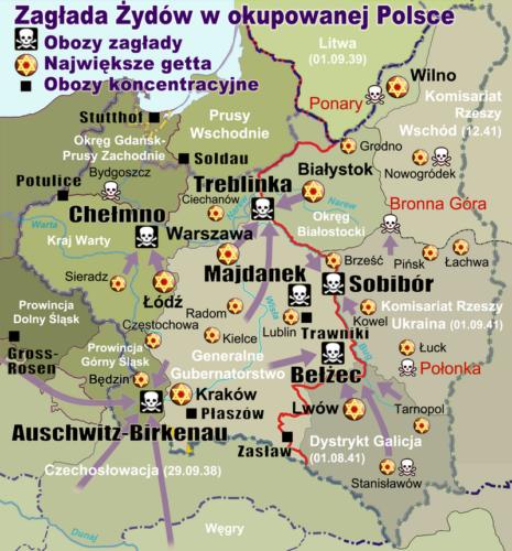ソビボル強制収容所行き方地図