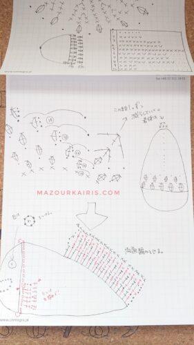 freediagram-taiyaki-amigurumiたい焼き編み図無料