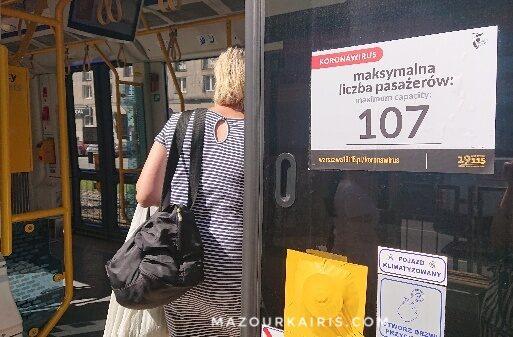 夏のワルシャワ2020年8月トラム