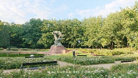 ワジェンキ公園ショパン像ポーランドワルシャワ観光