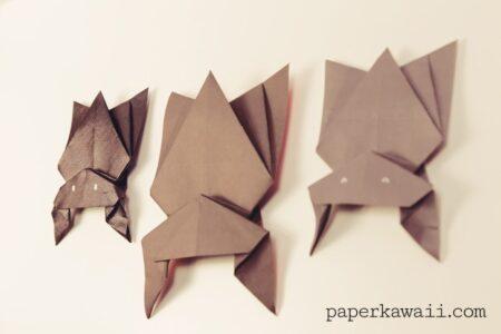 折り紙ハロウィン蝙蝠の作り方