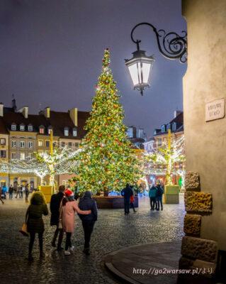 2020ワルシャワのクリスマスイルミネーション旧市街
