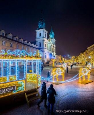 2020ワルシャワのクリスマスイルミネーション