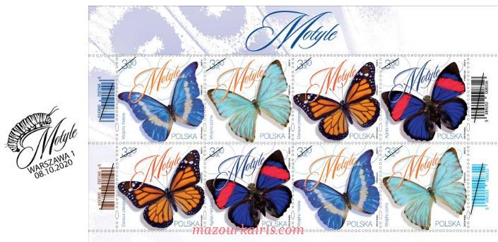 ポーランドの切手蝶pocztapolska-znaczki