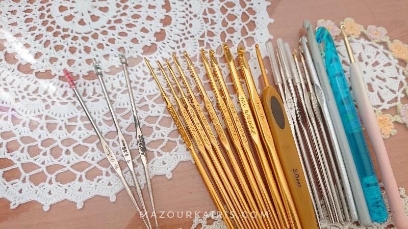Lace-edging-crochet-braideブレードクロッシェエッジング無料編み図かぎ針レース針号数