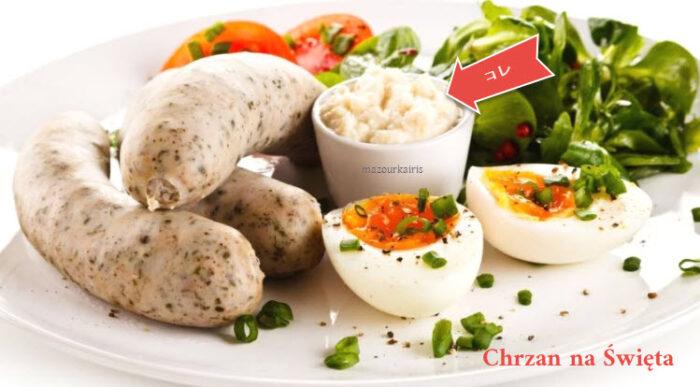 ポーランドのイースターの食べ物chrzan西洋わさび