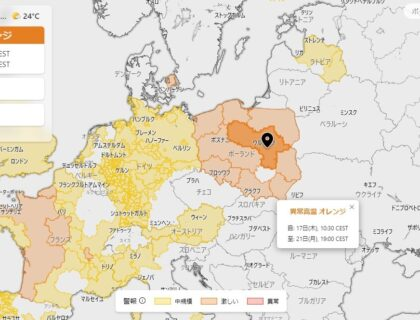 ヨーロッパポーランド熱波警報